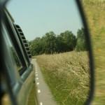 Vanuit het Volkswagen busje genieten van de natuur