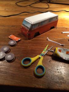 VW t2 busje bouwplaat