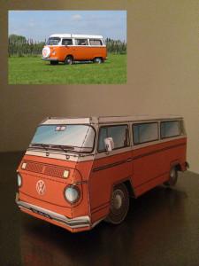 Volkswagen t2 busje bouwplaat